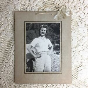 Vintage Wall Photo Girl Next Door 1940s Pretty Young Woman Wholesome Glamour WW2