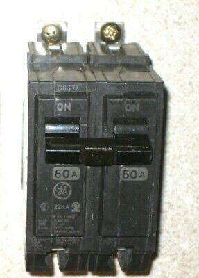 GE THHQB2160 CIRCUIT BREAKER 2 POLE 60 AMP 240 VAC NEW!!!