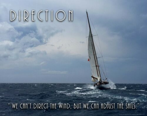 Sailing Motivational Poster Art Print Yacht Clubs Boat Adjust the Sails MVP642