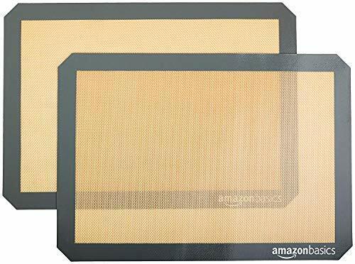 AmazonBasics Silicone Non-Stick Food Safe Baking Mat - Pack of 2