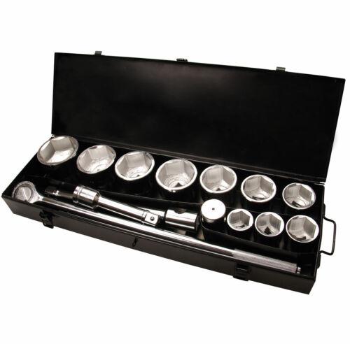 COFFRET POIDS LOURDS CARRE 1 POUCE DOUILLES 6 PANS 36 A 80 MM