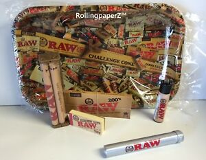 RAW-Natural-MIX-TRAY-KING-SIZE-BUNDLE-PAPERS-TIPS-Storage-Tube-Lighter-Roller