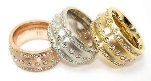 Edelstahlring-Damen-12mm-silber-rosegold-gold-3-Reihen-strass