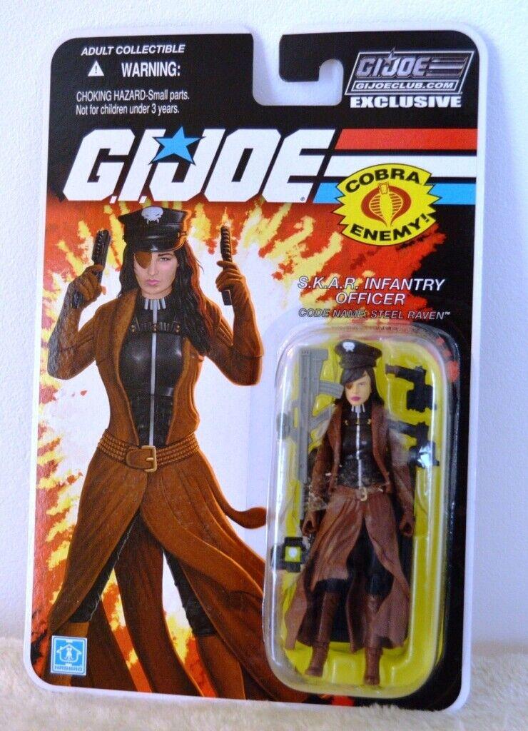 Gi Joe collector club exclusive STEEL RAVEN MOC ultra rare