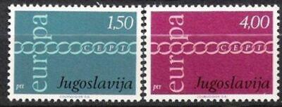 Postfrisch EntrüCkung Jugoslawien Nr.1416/17 ** Europa Cept 1971