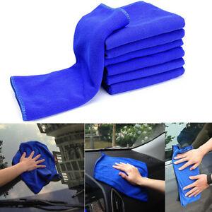 10X-Microfaser-Tuecher-Tuch-Mikrofaser-Poliertuecher-Premium-Universal-Blau-30-30