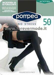 Autoreggente donna Pompea coprente microfibra 50 balza liscia art Microfibra 50