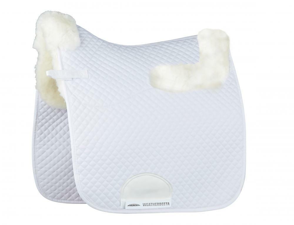 Weatherbeeta Dressage Saddle Pad With Merino Edging White - 17  & 17.5  - BNWT