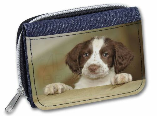 AD-SS76JW Springer Spaniel Puppy Dog Girls//Ladies Denim Purse Wallet Christmas