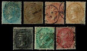 1855-64-India-11-13-amp-15-18-QV-Unwmkd-Used-Fine-CV-184-25-ESP-3838
