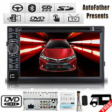 """6.2"""" 2 Din Stereo Car CD DVD Radio Bluetooth TOUCHSCEEN For Toyota Corolla Camry"""