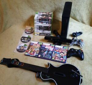 Microsoft Xbox 360 S 250GB Console Black-Guitar & Kinect ...