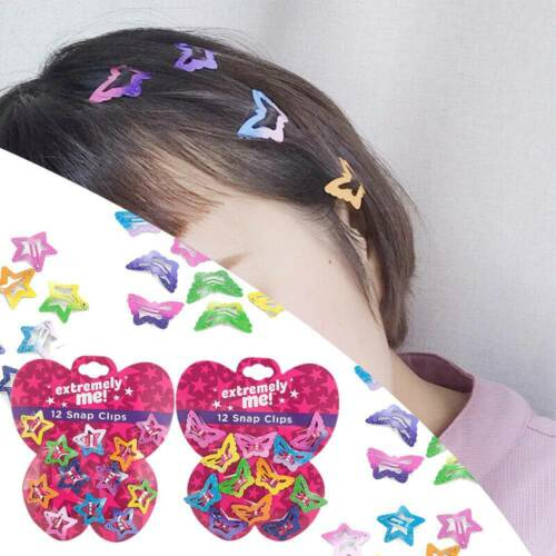 12PCS//Set Baby Kids Girls Barrettes BB Clip Candy Color Hair Clips Snap Hairpin
