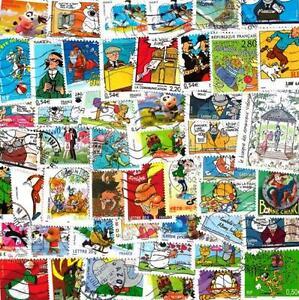 FRANCE-bandes-dessinees-de-25-a-100-timbres-differents