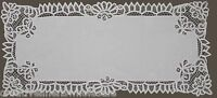 Battenburg Lace White Table Runners Hand Embroidery