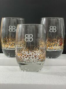 Baileys Irish Cream, Gold Confetti Dot, Rocks Style Glasses, Set of 3