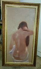 Vintage 60s/70s Nude Portrait Oil Painting Signed Anthony Autorino Listed Artist