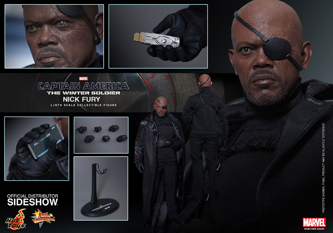 Captain America Samuel L. Jackson NICK FURY Action Figure Hot Toys Sideshow