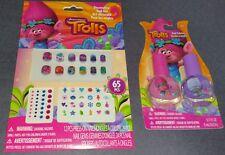 Trolls 65 Piece Nail Art Kit + Poppy Pink & Guy Diamond Purple Polishes! X-MAS