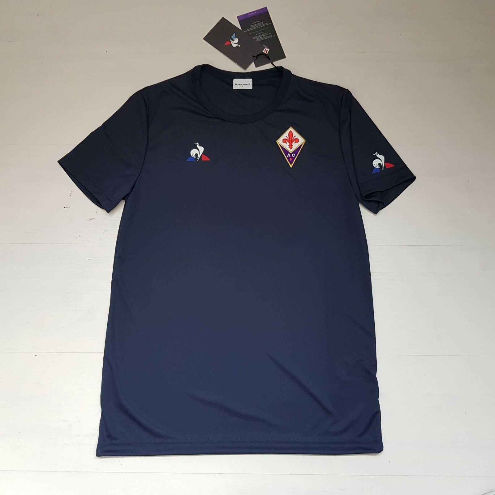 3444 LE COQ ATHLETIC FIORENTINA T-SHIRT SHIRT JERSEY WORKOUT TRAINING
