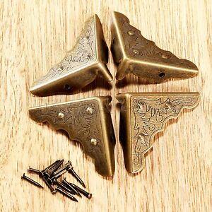 4//12//20PCS Antique Decorative Angle Corner Protectors for Wooden Case Gift Box
