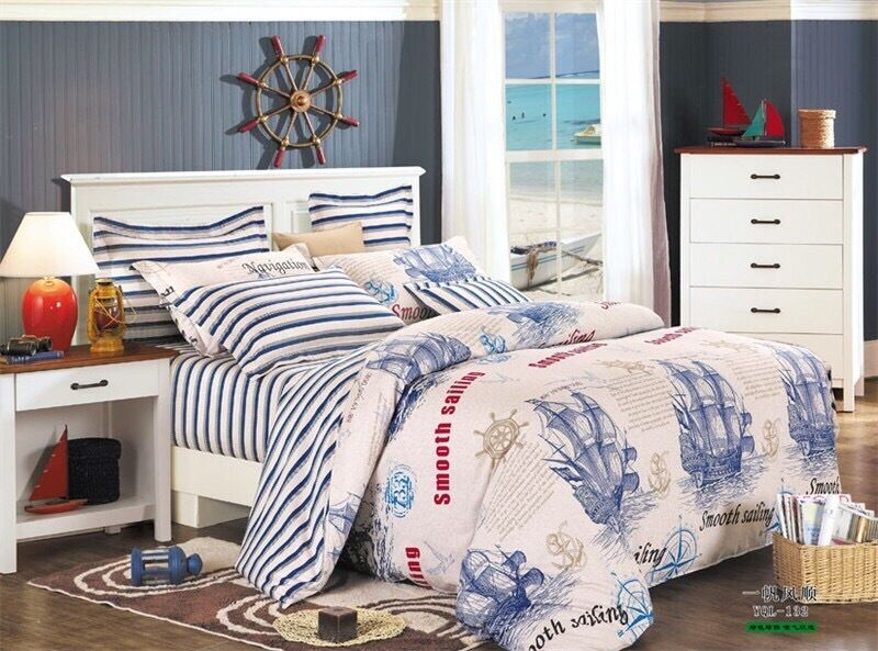 Striped Fitted Bed Skirt Kit (4pcs)