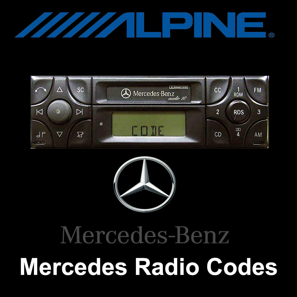 mercedes radio code alpine mf2910 mf2199 audio 10 car