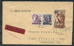 Ali. restreints. sarre porto plus équitablement coursier lettre à partir de völklingen 22.12.47 avec MIF-afficher le titre d`origine PaNFfAm0-07140535-959694848