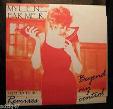 MAXIS 33 T  VINYL MYLENE FARMER - BEYOND MY CONTROL - REMIXES