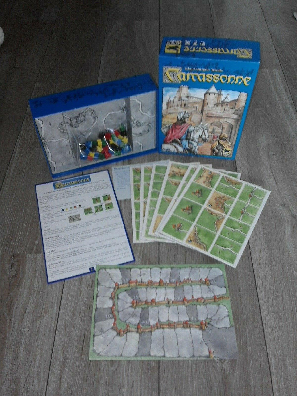 Carcassonne Grundspiel - altes Layout - OVP Stanzbogen - Cover mit Räuber