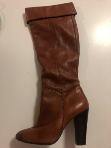 Aldo Boots Womens Leather 8 Cognac Brown