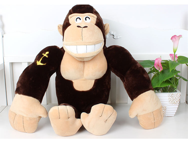 Nuovo 28 /70cm marrone Kong Kim Gorilla Stuffed Animal Soft Plush Doll Toy Kid Gifts