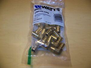 Watts-10-Pack-1-2-034-x-1-2-034-PEX-Brass-90-Degree-Elbow-Fitting-Crimp-SKU-0653101