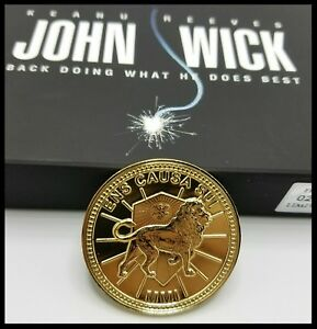 JOHN-WICK-CHALLENGE-COIN-KRUGERRAND-POP-CONTINENTAL-HOTEL-ASSASSIN-KEANU-MOVIE