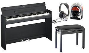 yamaha ydp s52b digitalpiano bundle mit klavierbank und kopfh rer ebay. Black Bedroom Furniture Sets. Home Design Ideas