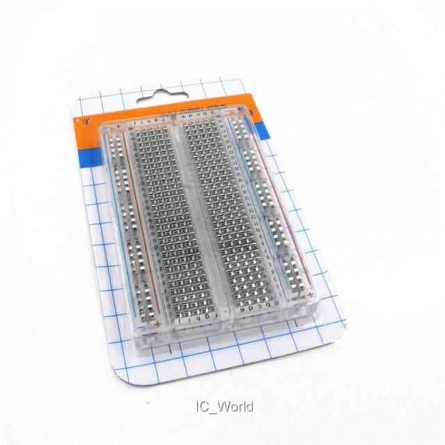 10 PCS Transparent Prototype Solderless Breadboard 400 Contact For Arduino RPi
