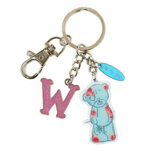 Me-To-You-Tatty-Teddy-Bear-Letter-W-Keyring-with-Charms-by-Carte-Blanche