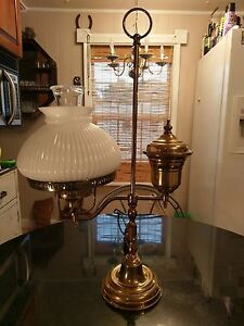 Antique-Solid-Brass-Student-Table-Lamp