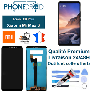 Ecran-complet-LCD-Tactile-Xiaomi-Mi-Max-3-Black-Outils-stock-FR