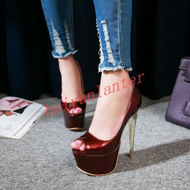 Femme Aiguille Chaussures Haut Rdxbeco Bout Très Ouvert Talon Rj54LA3