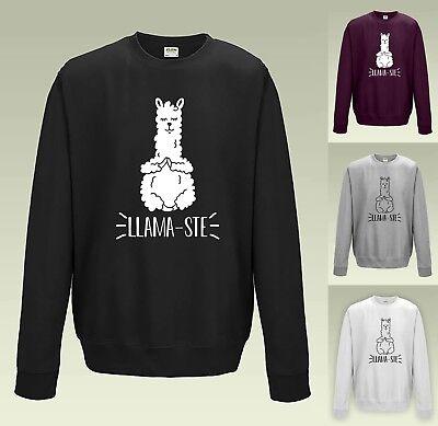 Funny Cute Slogan Namaste Yoga Llama-Ste T-Shirt