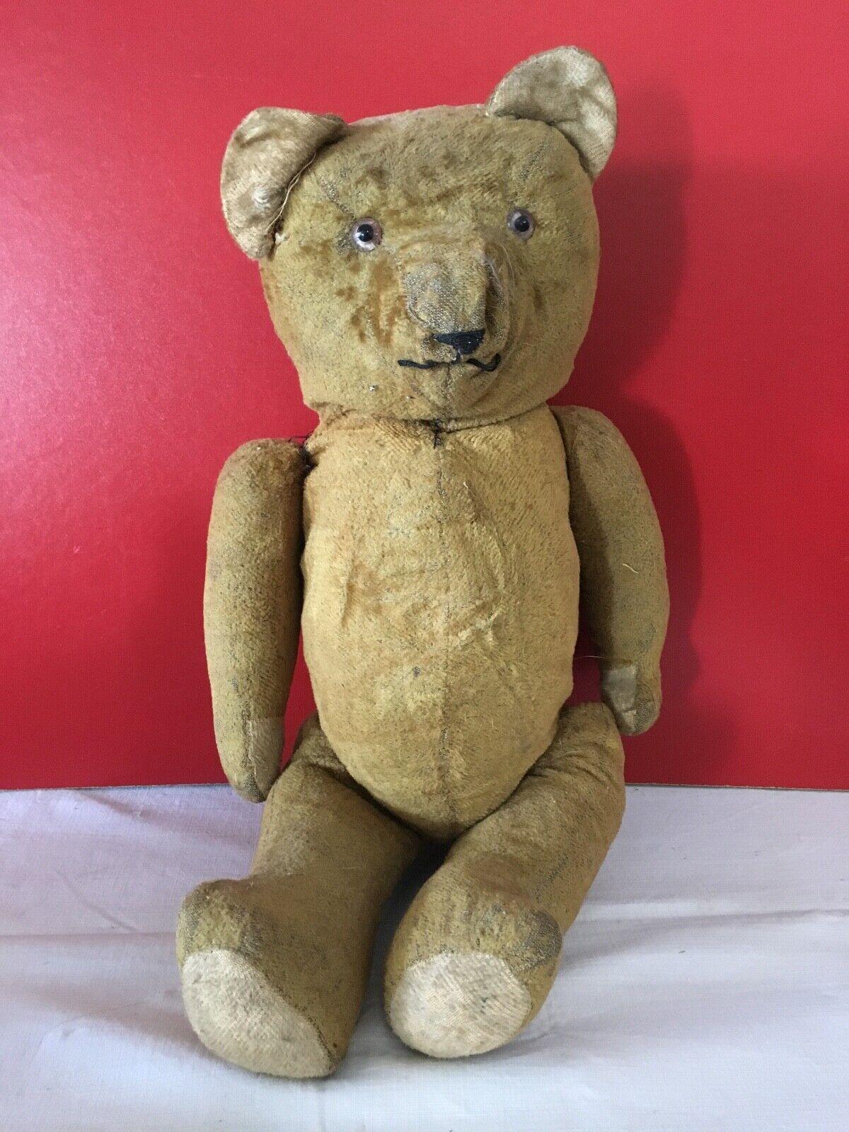 TEDDY BEAR OURS PELUCHE JOUET ANCIEN 58 cm  0054  JD