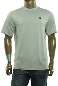 34247be3 New Mens Champion Performance Crew Neck Light Gray Vapor Run T Shirt ...