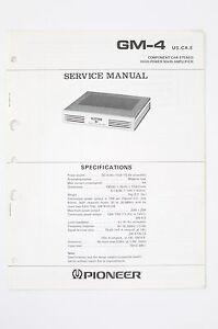 Tv, Video & Audio Pioneer Gm-4 Original Car Power Amplifier Service-manual/schaltplan/diagram O97 äSthetisches Aussehen