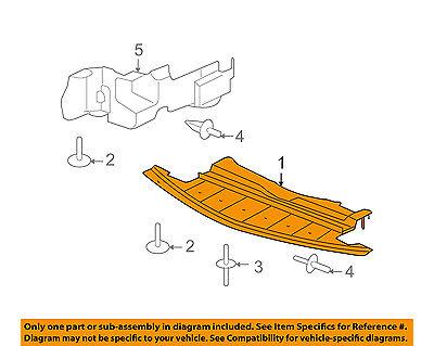 Center Engine Splash Shield Under Cover Fits 2007-2009 Saturn Aura GM1228119