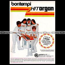 BONTEMPI 'HIT ORGAN / ORGANISTA' 1972 Electric Chord Organ - Pub / Advert #A785