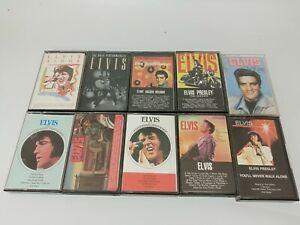 Vintage Lot Of 10 Elvis Cassette Tapes Tested Works