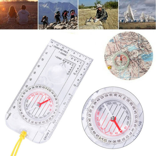 Magnifying Orienteering Compass Navigation Map Reading Scouts Cadet Hiki ZPHWD