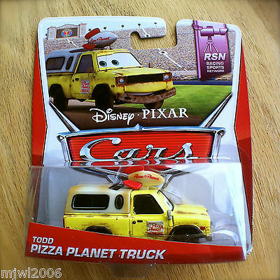 Disney PIXAR Cars TODD the PIZZA PLANET TRUCK 2014 RSN diecast 8/8 YO Toyota