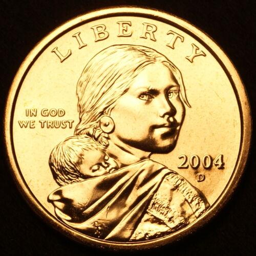 2004 D Sacagawea Dollar ~ With Eagle in Flight Reverse ~ BU from U.S Mint Roll